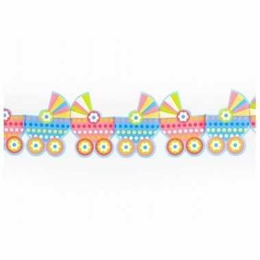 Geboorte babyshower versiering kinderwagen slinger