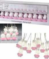 Geboorte babykamer roze nijntje verlichting slinger